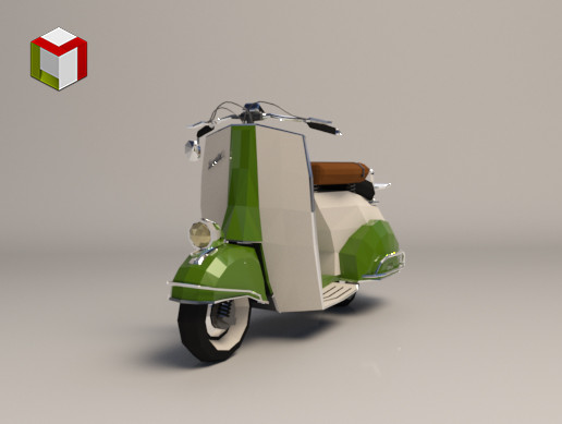 Low Poly Scooter 04