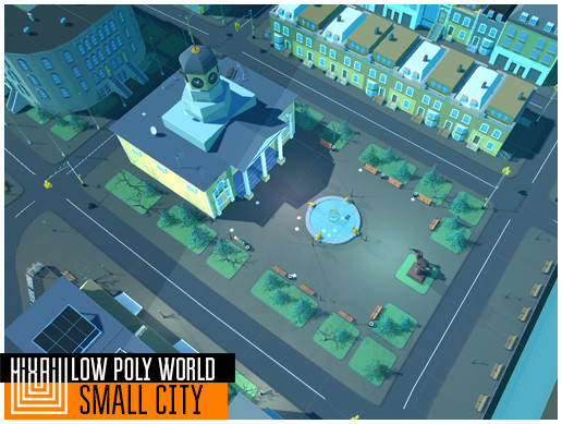 LOW POLY WORLD - SMALL CITY