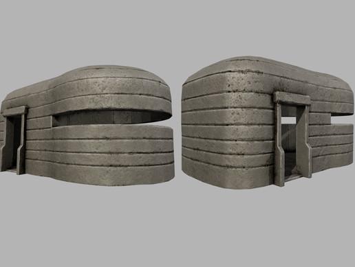 Small Concrete Bunker PBR