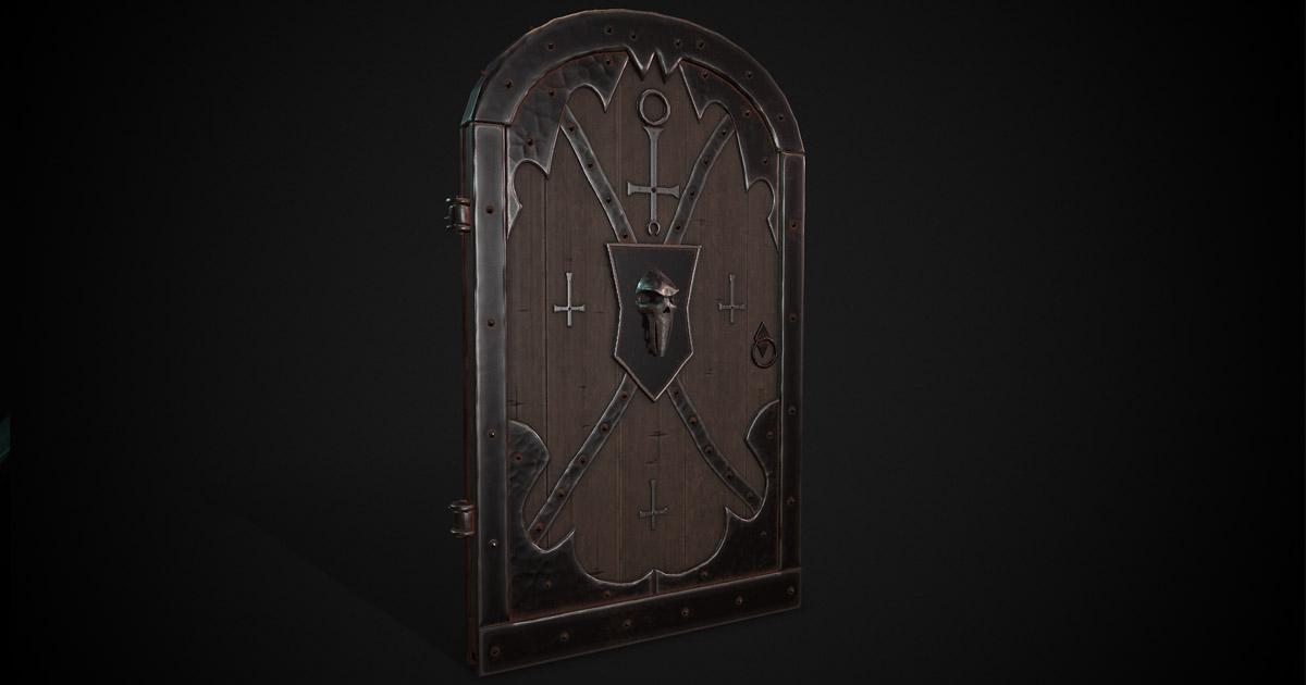 Skull Mask Dungeon Door