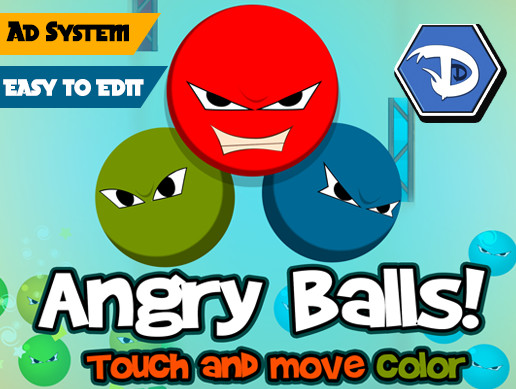 AngryBalls! - Touch And Move Color - Full game