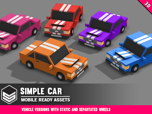 Simple Car - Cartoon Vehicle
