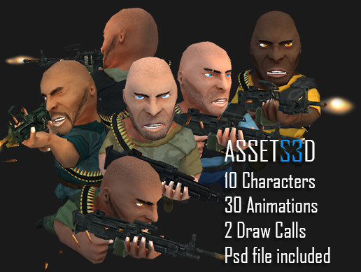10 Toon Anim Soldiers