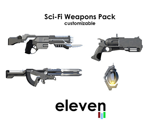Sci Fi Customizable Weapon