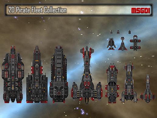 2D Pirate Fleet Collection