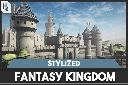 Stylized Medieval Castle Pack (Low Poly)
