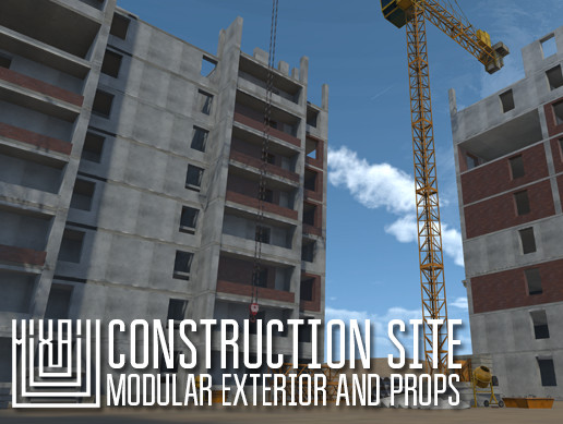 Construction site - modular exterior and props