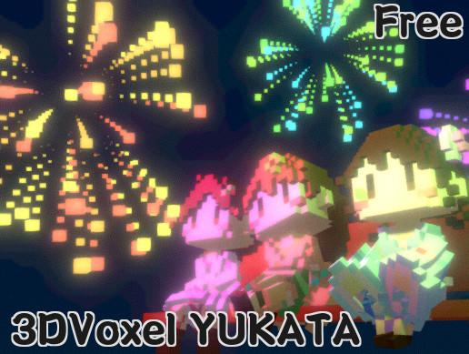 3DVoxel_YukataGirl FreePack