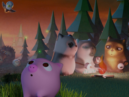 Cartoon Lowpoly Forest Animals