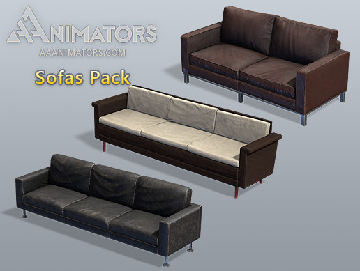 Low Poly Sofas Pack