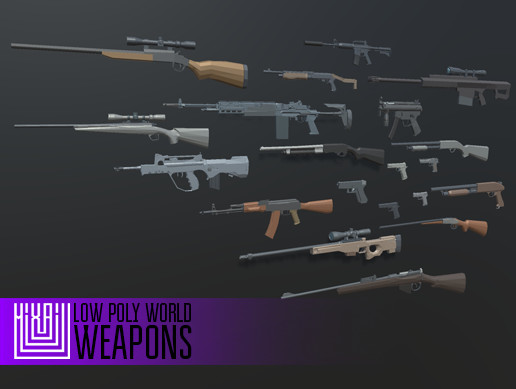LOW POLY WORLD - WEAPONS