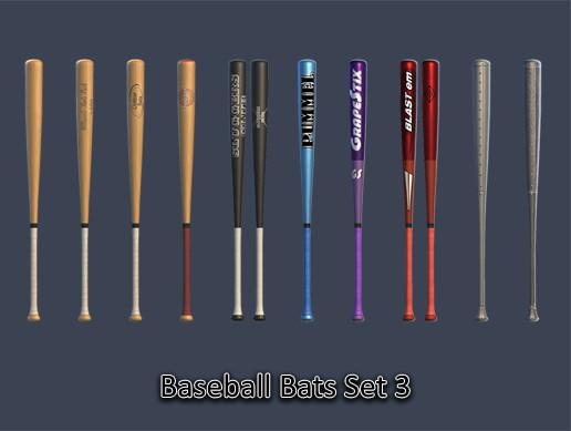 Sports Pack - Baseball Bats Set 03