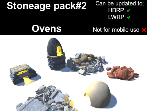 Stoneage pack#2 - Ovens (PBR)