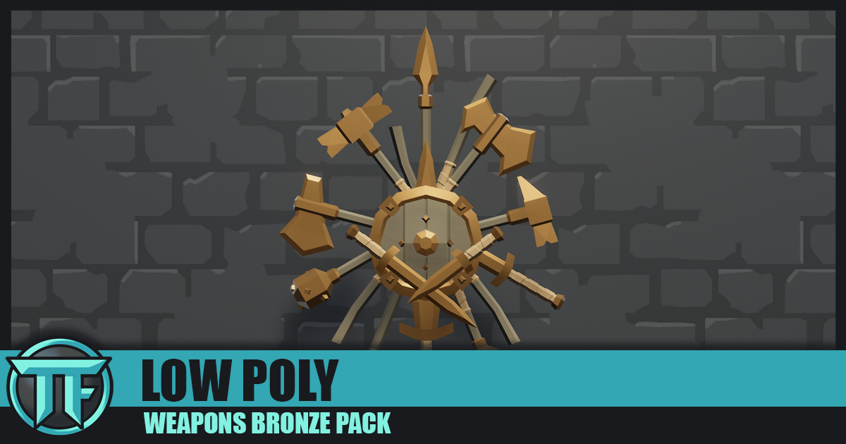 LOW POLY - Weapons Bronze Pack