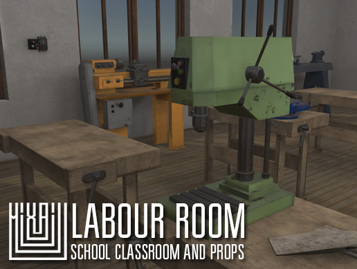 labour room - school classroom and props