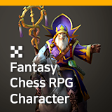 Fantasy Chess RPG Character - Merlin
