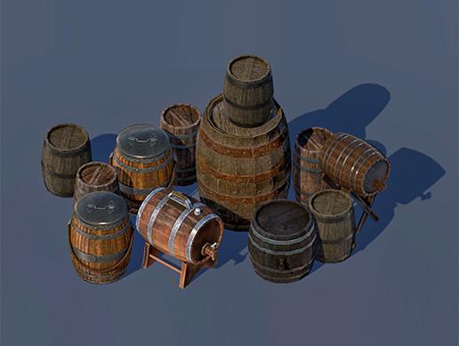 Wooden Barrels PBR