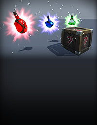 Potions, Coin And Box of Pandora Pack