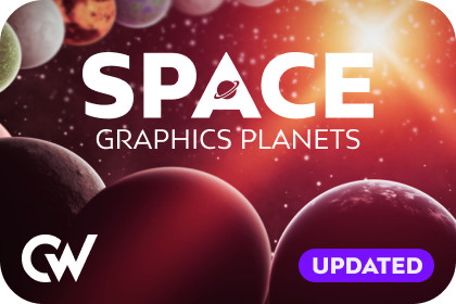 Space Graphics Planets