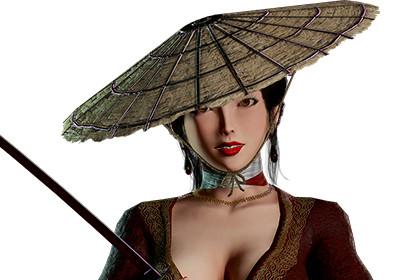 Samurai Female - (Modular) Game Ready