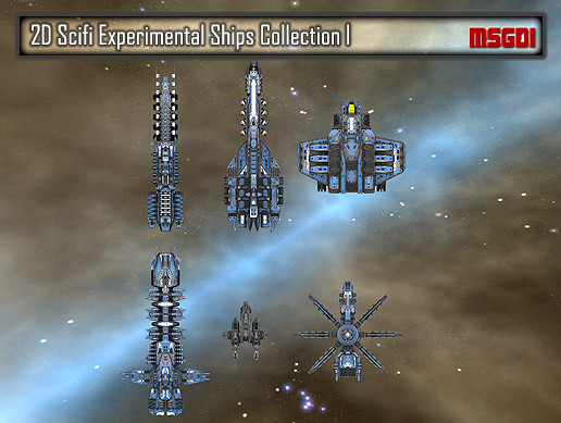 2D Experimental Ships Collection
