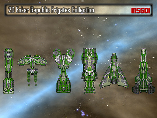 2D Enkar Republic Frigates Collection