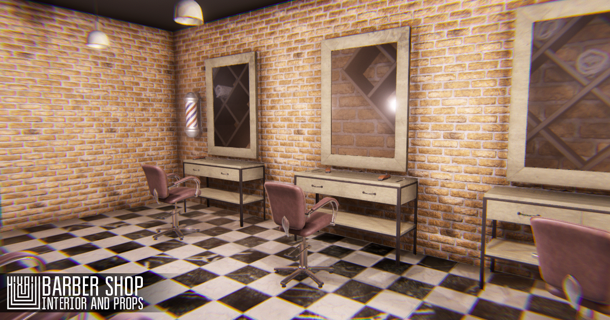 Barber shop - interior and props