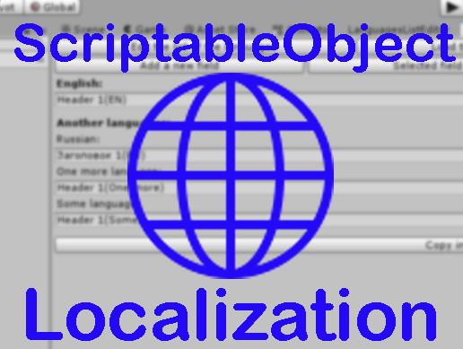 ScriptableObject Localization