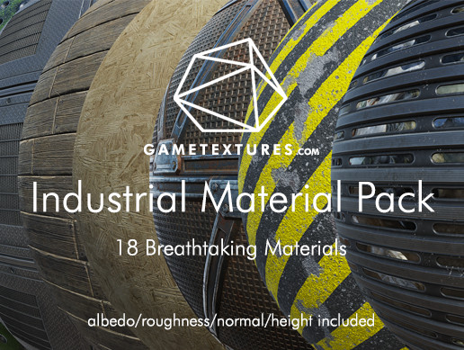 Industrial Material Pack by GameTextures