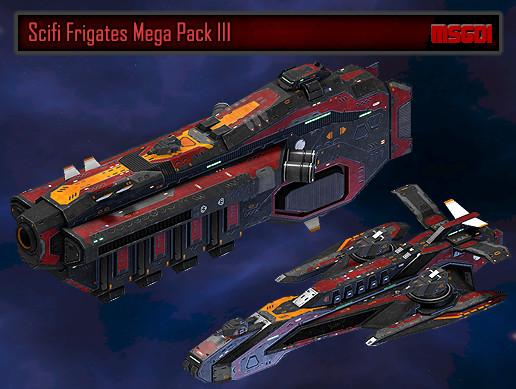 Scifi Frigates Mega Pack III
