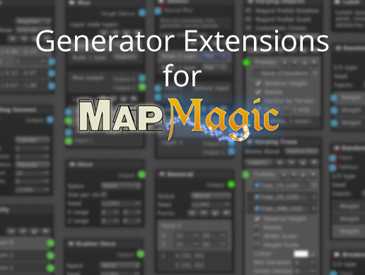 GEMM: Generator Extensions for MapMagic