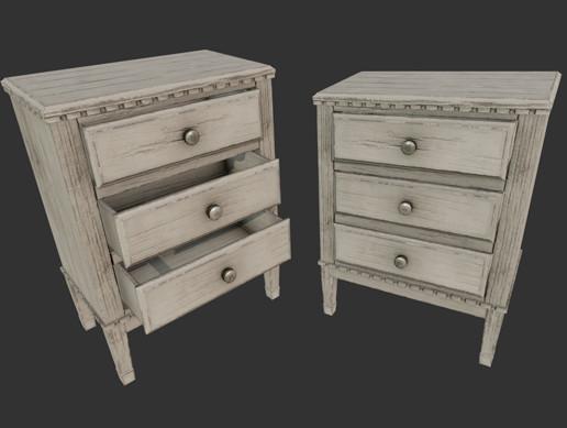 Old Wooden Dresser PBR
