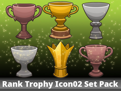 Rank Trophy Icon02 Set Pack