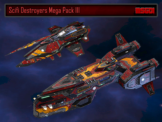 Scifi Destroyers Mega Pack III