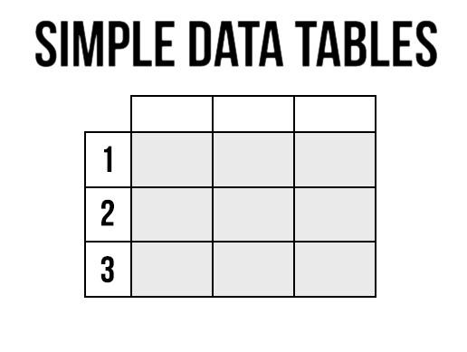 Simple Data Tables - Asset Store