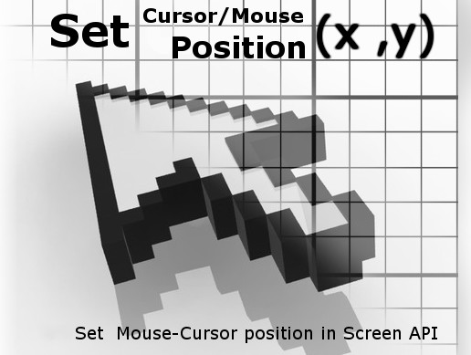 Set Cursor Position + Mouse Clicks API - Asset Store
