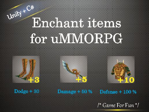 Enchant items for uMMORPG