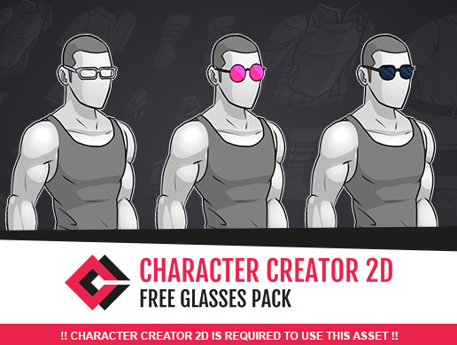 Free Glasses for Character Creator 2D - Asset Store