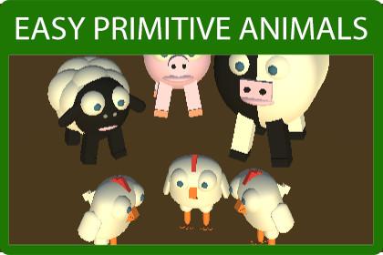 Easy Primitive Animals - Farm Edition