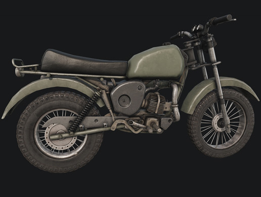 Old Motorcycle PBR
