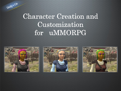 Character Creation and Customization for uMMORPG