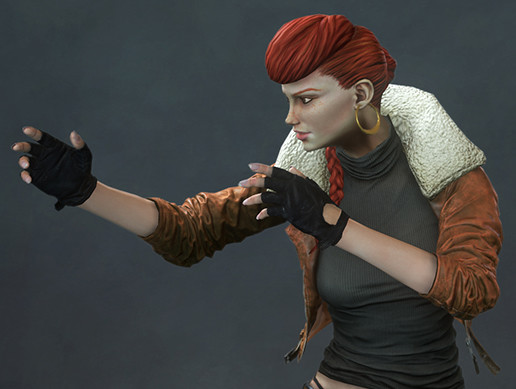 Redhead - Female Fighter