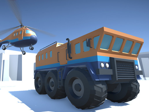 Arctic exploration vehicles