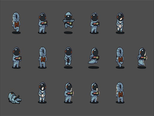 Animated 2D Soldier Character