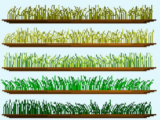 2D Pixelart Interactive Grass