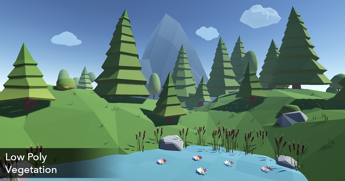 Low Poly Vegetation & Forest Pack