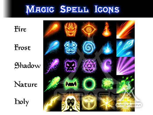 Magic Spell Icons