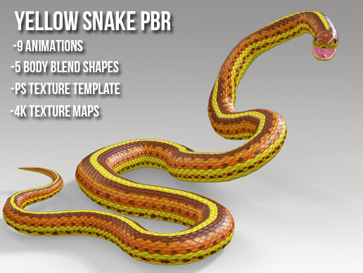 Yellow Snake PBR