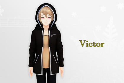 Victor V2 3D: Anime Style Character (Game-Ready/VRChat)