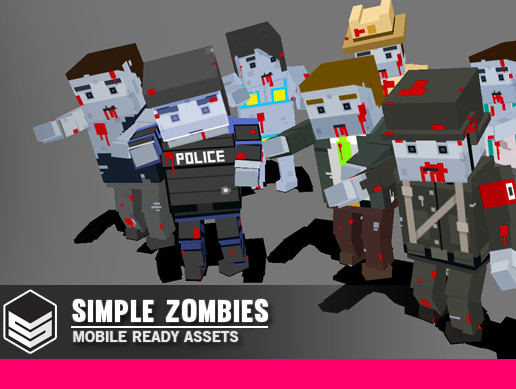 Simple Zombies - Cartoon Characters